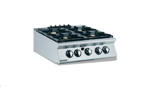 Cuisinière à gaz 4 feux vifs, 3×6 kW et 1×10 kW Série N900