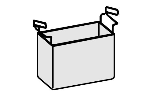Panier 1/3 en acier inox AISI 304