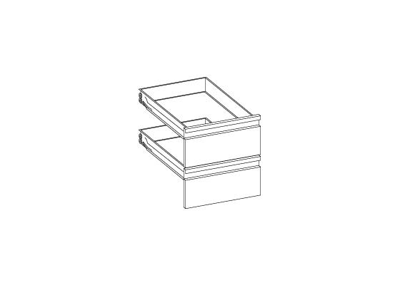 Couple de tiroirs pour base neutre