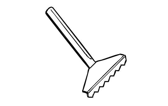 Raclette pour plaque lisse chromée