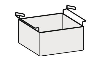 Panier 2/3 en acier inox AISI 304