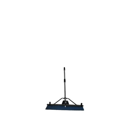 Balai brosse avec manche bleue/Broom with blue handle
