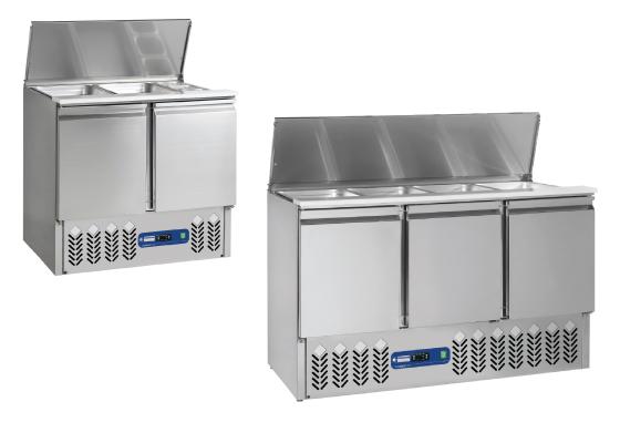 Saladettes frigorifiques ventilées GN 1/1